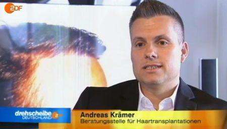 """ZDF Drehscheibe Deutschland 21 August 12 (Hairforlife – Inhaber Andreas Krämer im Interview bei """"ZDF Drehscheibe"""") - ZDF-Kraemer"""